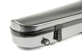 Кейс для скрипки Bam Hightech Contoured Violin case - Silver Carbon look