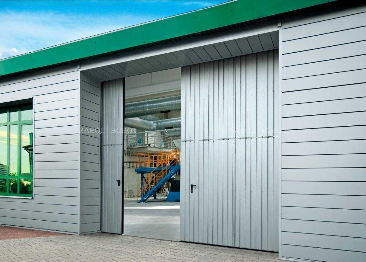 производство промышленных ворот складного типа-сдвижные ворота на склад