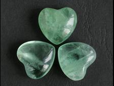 Сердце Флюорит в ассортименте мал., Китай (25*25*12 мм, 12 г)  №1812