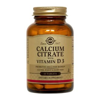 (solgar) calcium citrate with vitamin d3 - (60 табл)