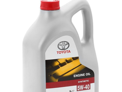 Моторное масло TOYOTA Engine Oil Synthetic SAE 5W-40, 5 л (08880-80375)