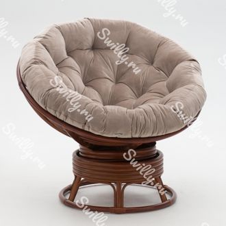 Кресло Swilly Swivel Papasan 2 орех
