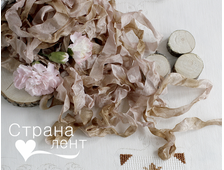 Шебби-лента Розовое дерево
