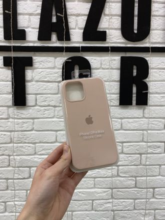 ЧЕХОЛ APPLE SILICONE CASE ДЛЯ IPHONE 12 PRO MAX пудровый