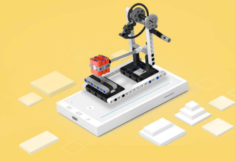 Конструктор Xiaomi rabbit building block power machinery color