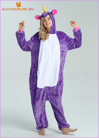 Кигуруми единорог фиолетовый ( размер XL ) 727ddbf493f5b