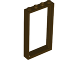 Door, Frame 1 x 4 x 6 with Two Holes on Top and Bottom, Dark Brown (60596 / 6259764 / 6337282)