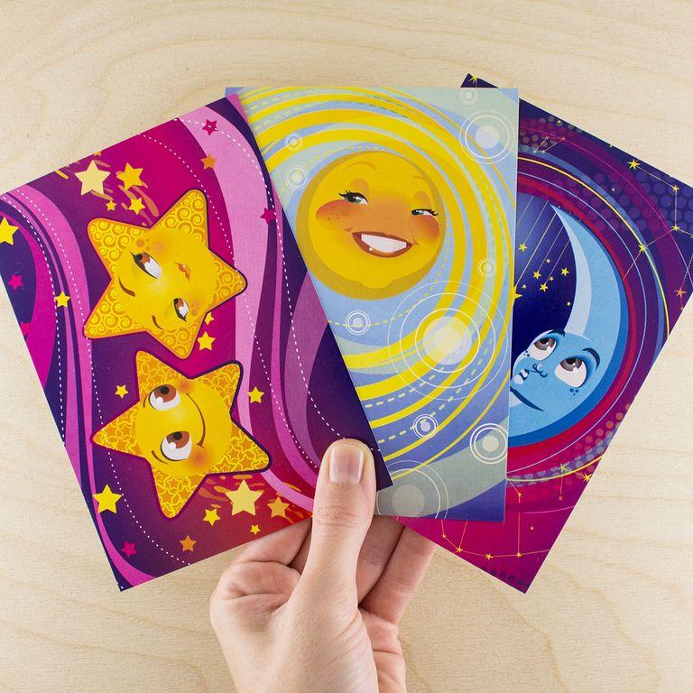 Набор открыток космос, сднем рождения года