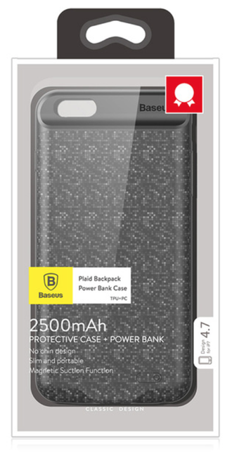 Baseus iPhone 7/8 Powerbank Case - черный