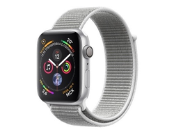 Apple Watch Series 4 40mm Silver Aluminum Case Seashell Sport Loop (Серебристый/Белый)