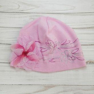 Шапка для девочки (Артикул 9912) цвет розовый