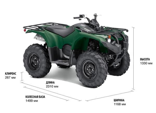 Характеристики квадроцикла Yamaha Grizzly 450