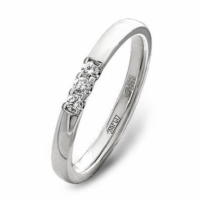 3f091b0b0e95 Обручальное Кольцо белое золото 3 бриллианта - Купить в интернет ...