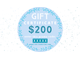 Gift certificate ($50, $100, $200)