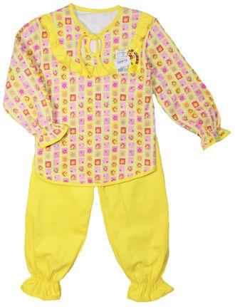 Пижама для девочки (Артикул 304-072) цвет жёлтый