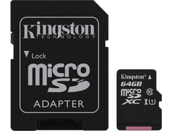 КАРТА ПАМЯТИ KINGSTON CANVAS SELECT SDCS/64GB