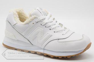06f865a6 Купить кроссовки зимние New Balance 574 FUR белые женские арт. NB294