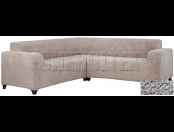 Чехол Велсофт на угловой диван, цвет Серый