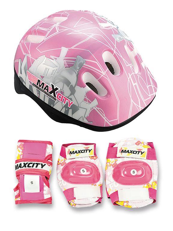 Набор защиты для детей MaxCity Baby City (розовый)