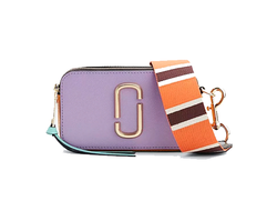 MARC JACOBS Snapshot Leather Camera Bag Hyacinth/Multi