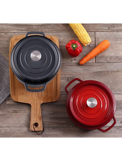 Чугунная кастрюля Xiaomi One realized classic shabu-shabu pot красная