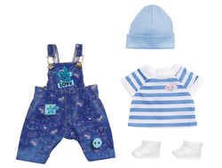 BABY born 829-127 Deluxe Dungarees Set 43cm