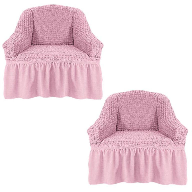Чехлы на 2 кресла, Розовый 207