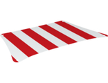 Cloth Sail 36 x 20 Bottom with Red Thick Stripes Pattern, White (69261 / 6314371)