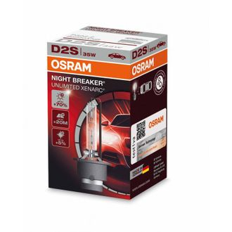Ксеноновая лампа OSRAM D2S Xenarc Night Breaker Unlimited 4300 K 66240XNB