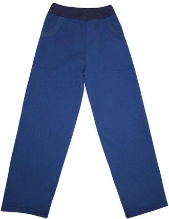 Штаны спортивные утеплённые (Артикул 498-352), тёмно-синий