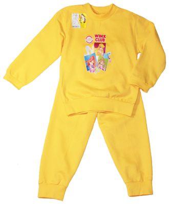 Пижама для девочки (Артикул 335-042) цвет жёлтый