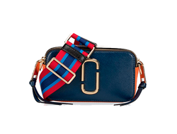 MARC JACOBS Snapshot Leather Camera Bag Blue/Multi