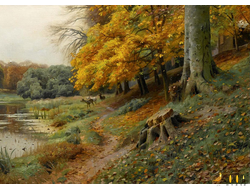 Открытка  -  Peder Mork Monsted