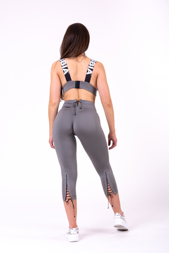 Леггинсы NEBBIA LACE-UP 7/8 LEGGINGS 661 Серые