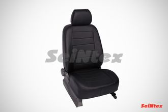 Чехлы Seintex Экокожа для Honda Civic sd (2007-2012) черный