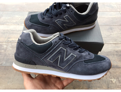 Кроссовки New Balance 574 Dark Gray сетка