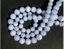 Бусина Агат голубой, шар 6 мм (1 шт) №16803