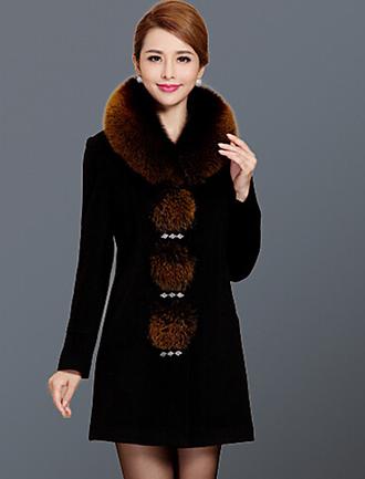 Однотонный Пальто
