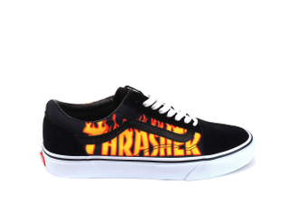 Кеды vans old skool Thrasher черно-белые