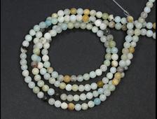 Бусины Амазонит мультиколор (Микроклин), шар 4 мм, цена за 1 нить около 39 см, около 90 шт (вес: 10 г) №18941