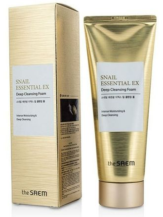 Пенка улиточная Snail Essential EX Wrinkle Solution Deep Cleansing Foam the Saem 150ml