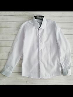 Рубашка с длинным рукавом, белая (Артикул 2196)