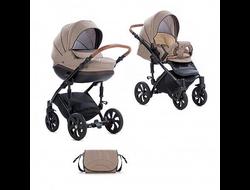Универсальная коляска Tutis Mimi Style (2 в 1) Цвет Бежевый лен/кожа коричневая