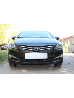 Защита радиатора Optimal Hyundai Solaris 2014-нв. Код: Z015