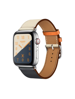 Купить Apple Watch Hermès S4 44мм with indigo/craie/orange swift leather single tour в iStore-Moscow