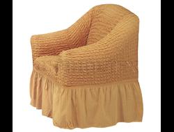 Чехол Стандарт на кресло, цвет Горчичный