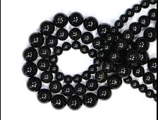 """Бусины Турмалин черный """"шерл"""", шар 6 мм, цена за 1 нить около 39 см, 70 шт (вес: 23 г) №18890"""