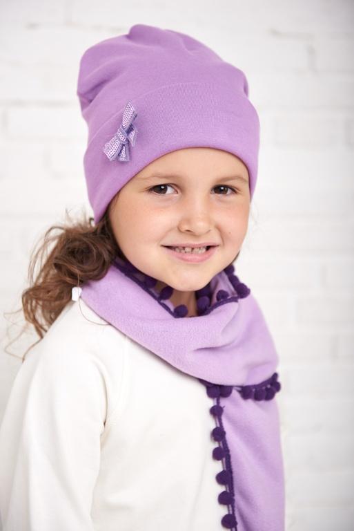 Арт. 284 Комплект утепленный с шарфиком для девочек