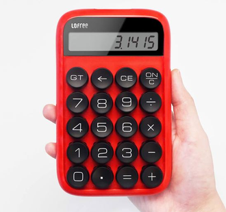 Калькулятор Xiaomi Lofree Sugar Bean Calculator белый