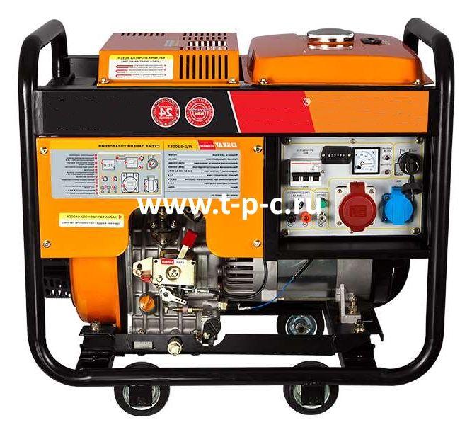 Дизельный генератор Скат УГД-5300ЕТ трехфазный